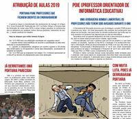 Boletim Servidores na Luta Especial Atribuição de Aulas 2019 (dezembro de 2018)