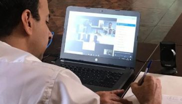 Foto de divulgação. Paulo Alexandre na reunião virtual com os empresários