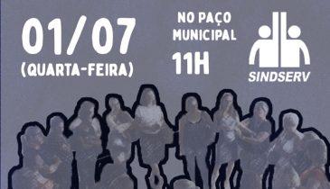 Cartaz: PROMOÇÃO JÁ! 01/07 (quarta-feira), 11h, no Paço Municipal
