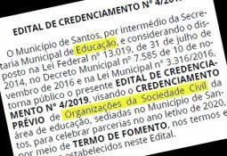 Edital de credenciamento das Organizações da Sociedade Civil (OSCs)