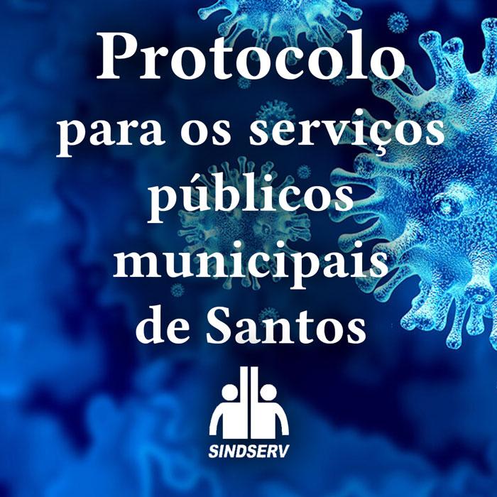 Protocolo para os serviços públicos municipais de Santos