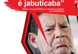 """Mourão (vice-presidente): """"13º salário é jabuticaba"""", se referindo aos direitos dos trabalhadores"""