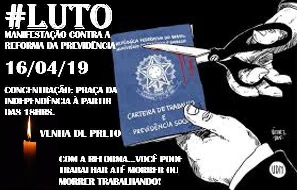 MANIFESTAÇÃO CONTRA A REFORMA DA PREVIDÊNCIA EM SANTOS