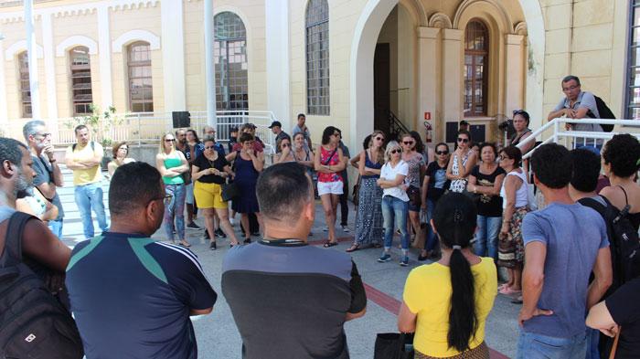 Servidores mobilizados na Câmara dos Vereadores