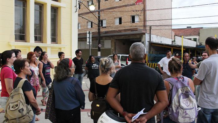 Foto da mobilização dos servidores na segunda votação