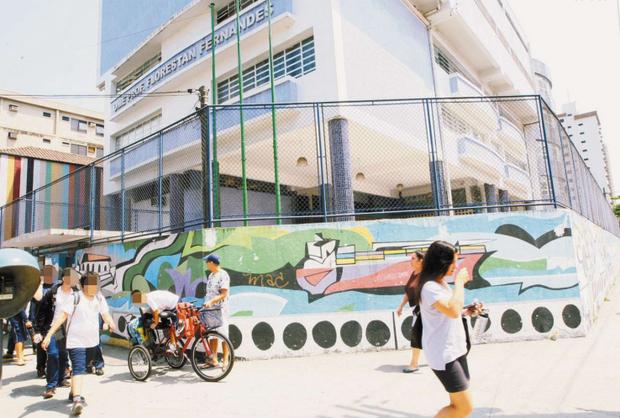 A Florestan Fernandes é uma das escolas onde houve falta de docentes (Foto: Luigi Bongiovanni/AT)