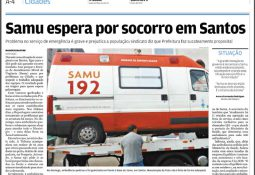 Jornal A Tribuna, 17/05/2017, Samu